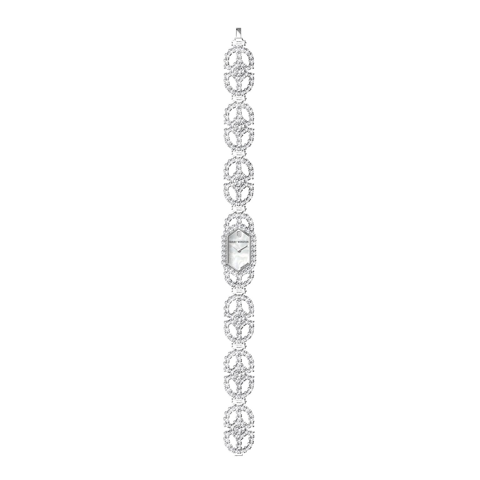 Harry Winston Art Deco diamond bracelet watch_zoom
