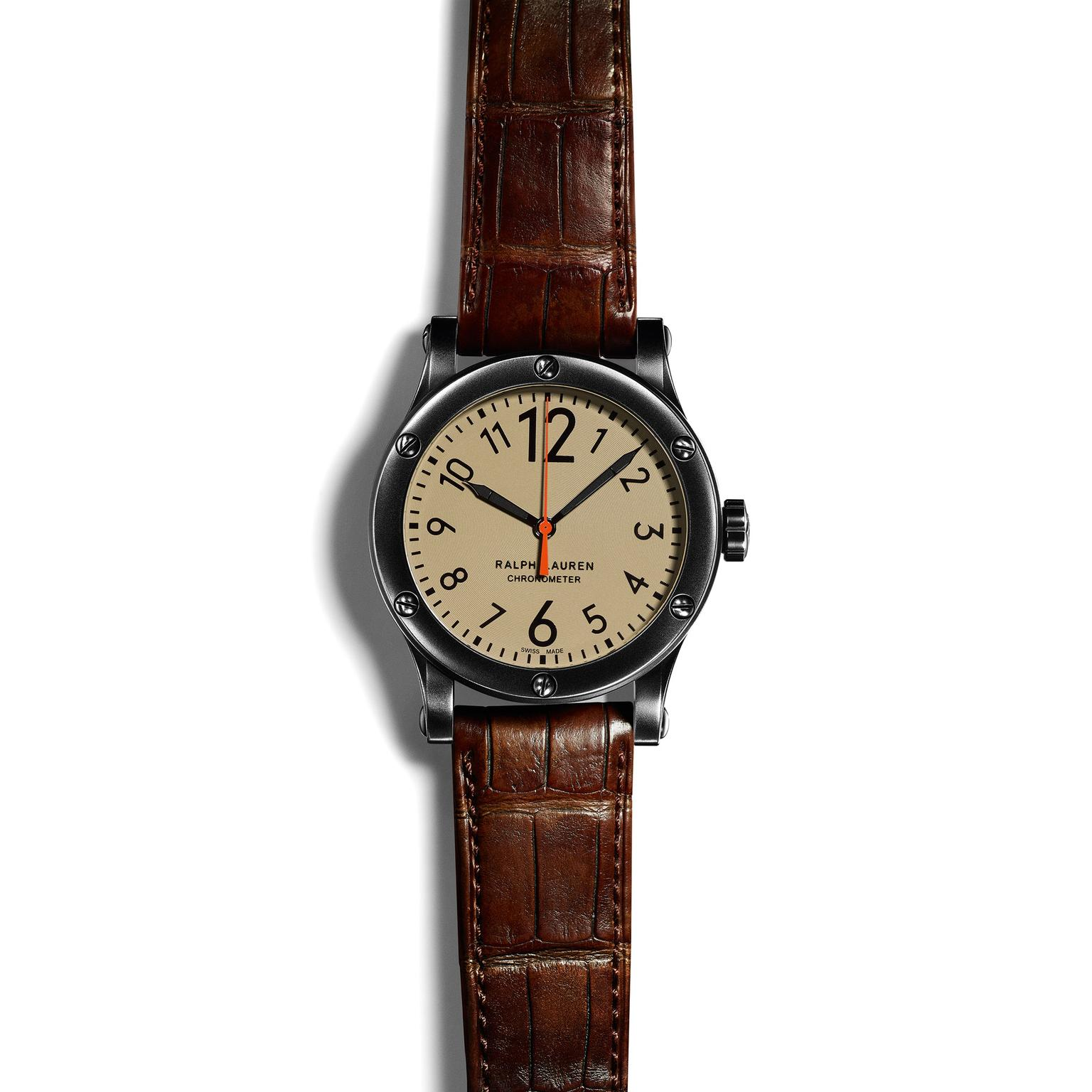 Ralph Lauren safari 39mm watch with khaki dial_zoom