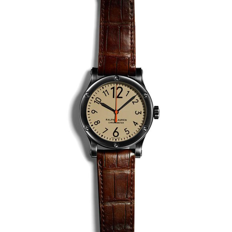 Ralph Lauren safari 45mm watch with khaki dial_zoom