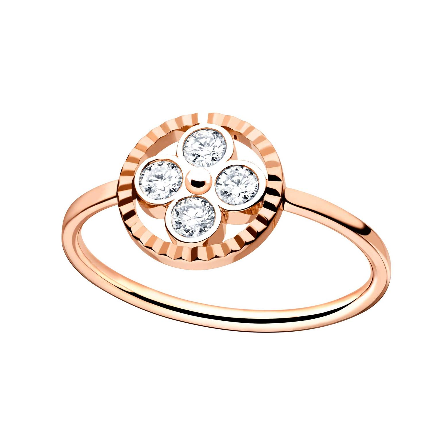 Monogram Sun diamond ring in rose gold Louis Vuitton The