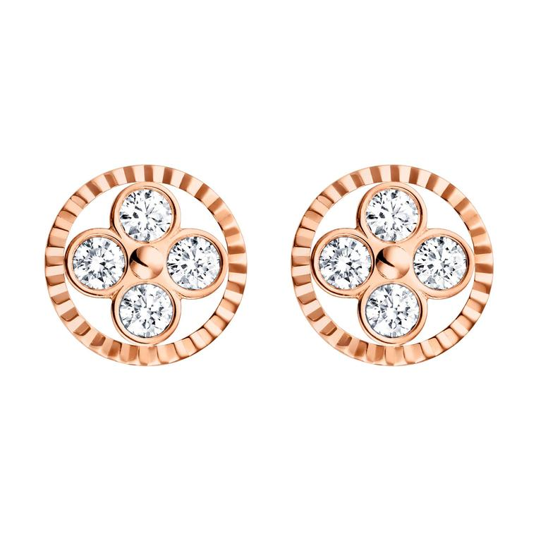 Louis Vuitton Monogram Sun and Stars collection Sun earrings in rose gold_zoom