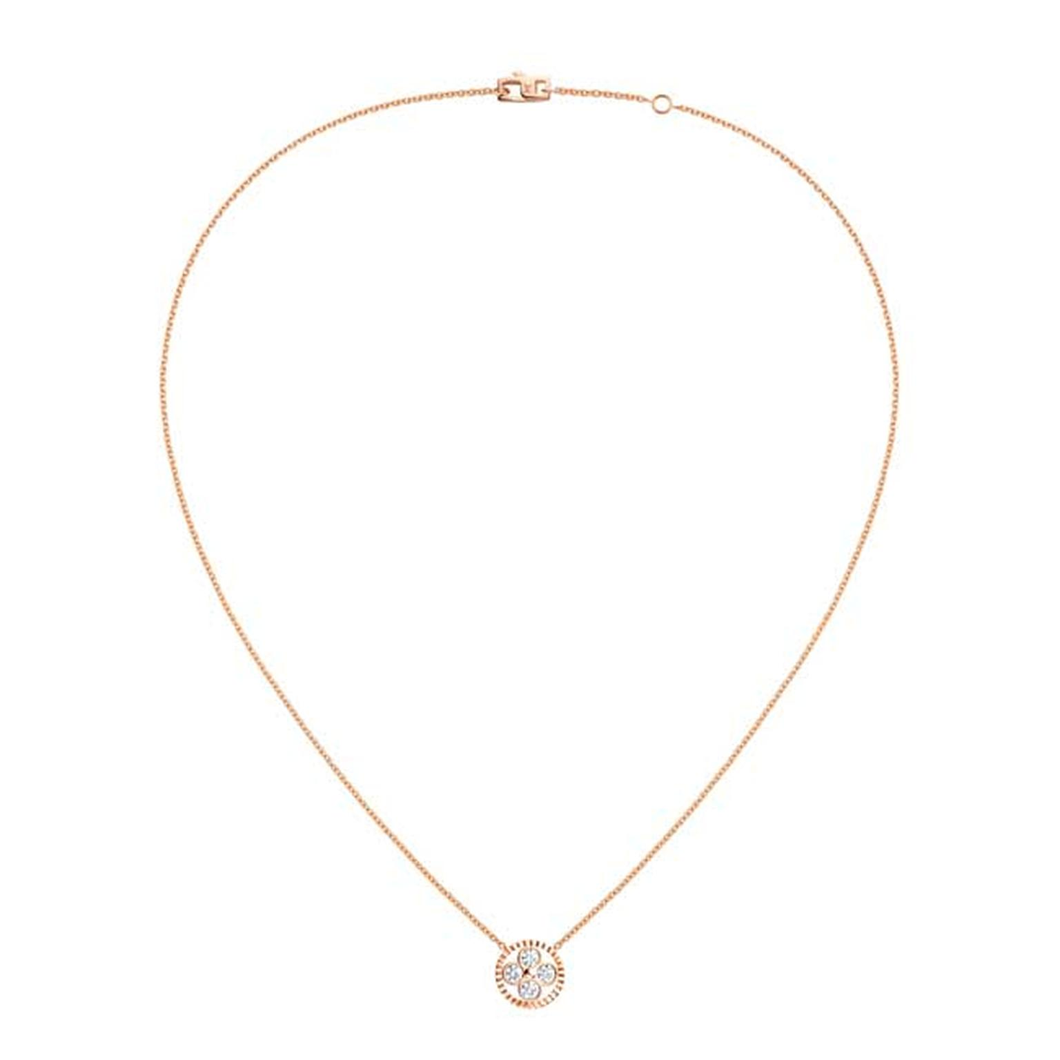 Louis Vuitton Monogram Sun and Stars collection Sun pendant necklace in rose gold_main