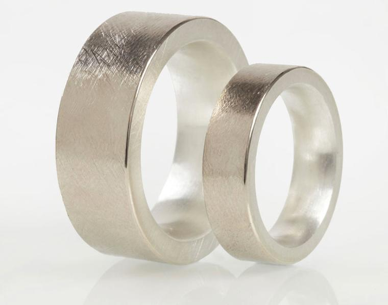 Josef Koppmann 18ct white gold and silver