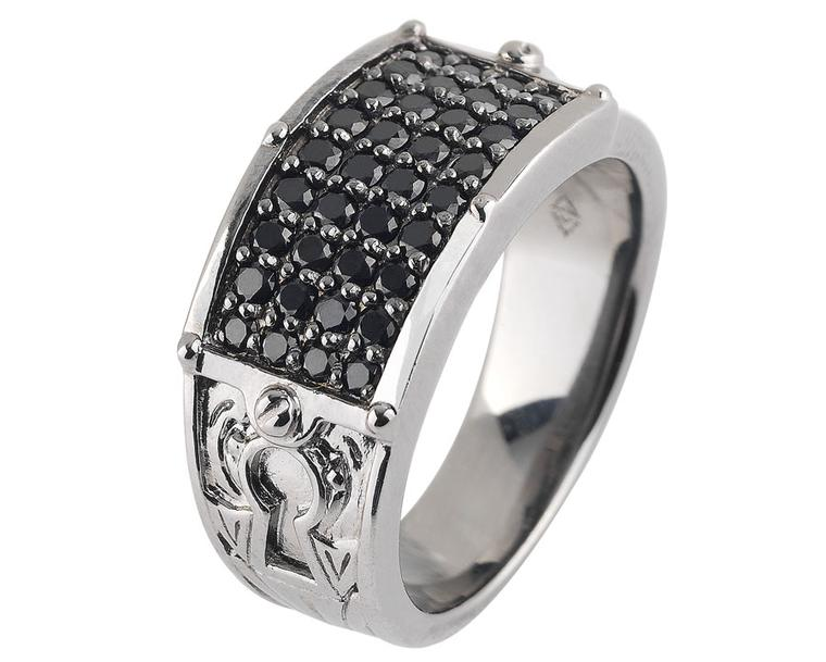 Stephen Webster No Regrets Band set in sterling silver with Black Sapphires