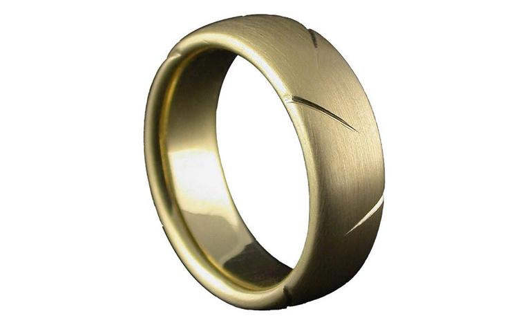 William Cheshire Lightening 18ct yellow gold ring
