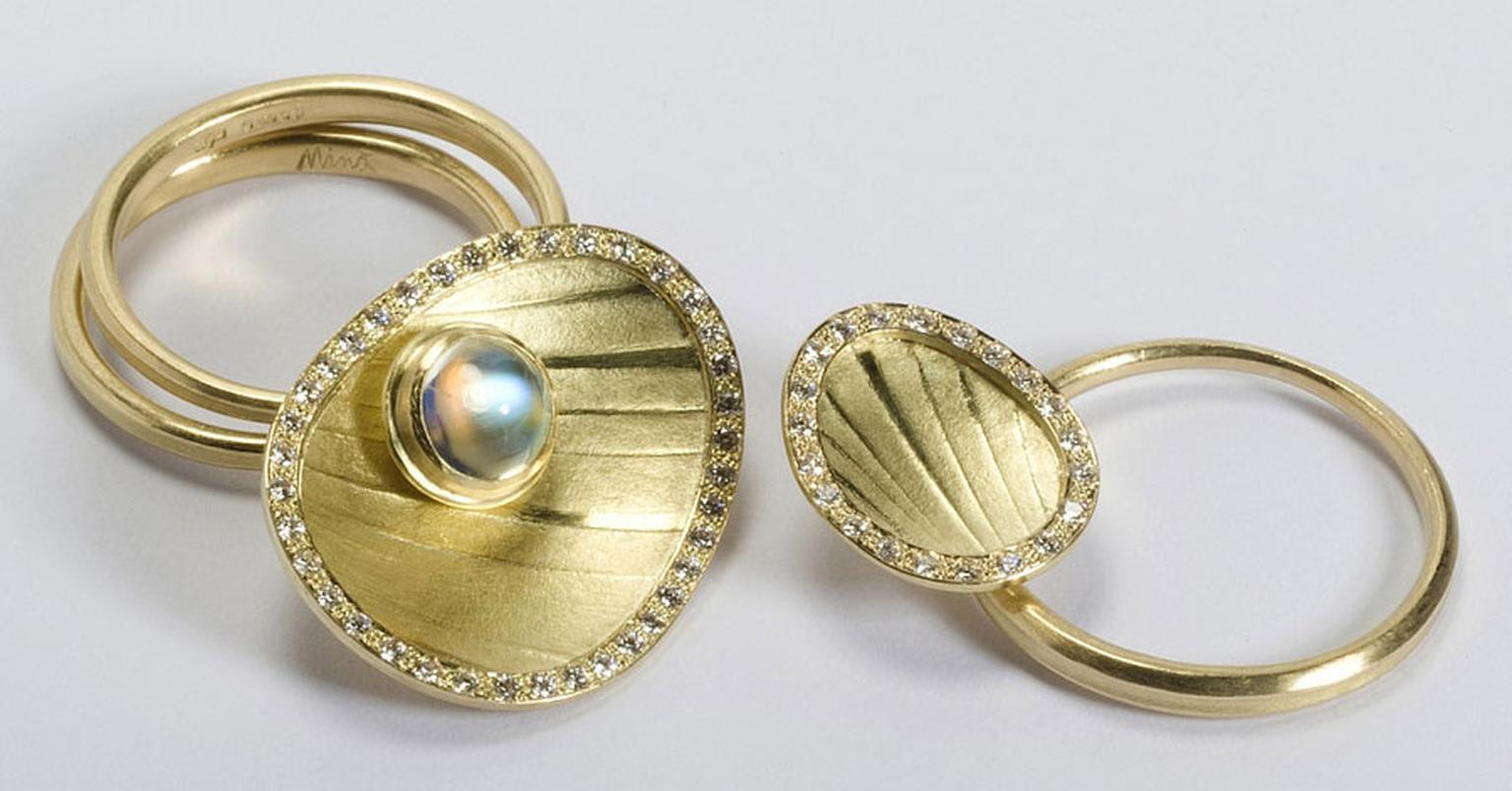 Kath Libbert. Jacqueline-Mina_Ring-set-in-18ct-gold-with-moonstone-&-diamonds_Photo-N-Mason