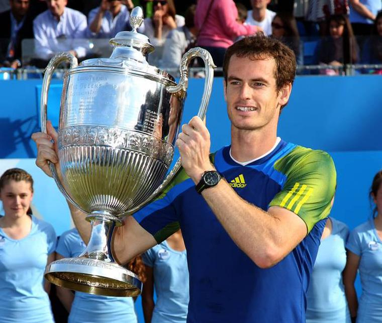 Andy Murray is crowned Wimbledon champion with his Rado on his wrist
