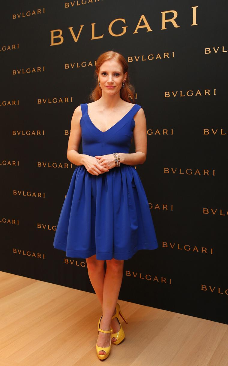 Bulgari celebrates the opening of a new boutique in Shanghai with Jessica Chastain