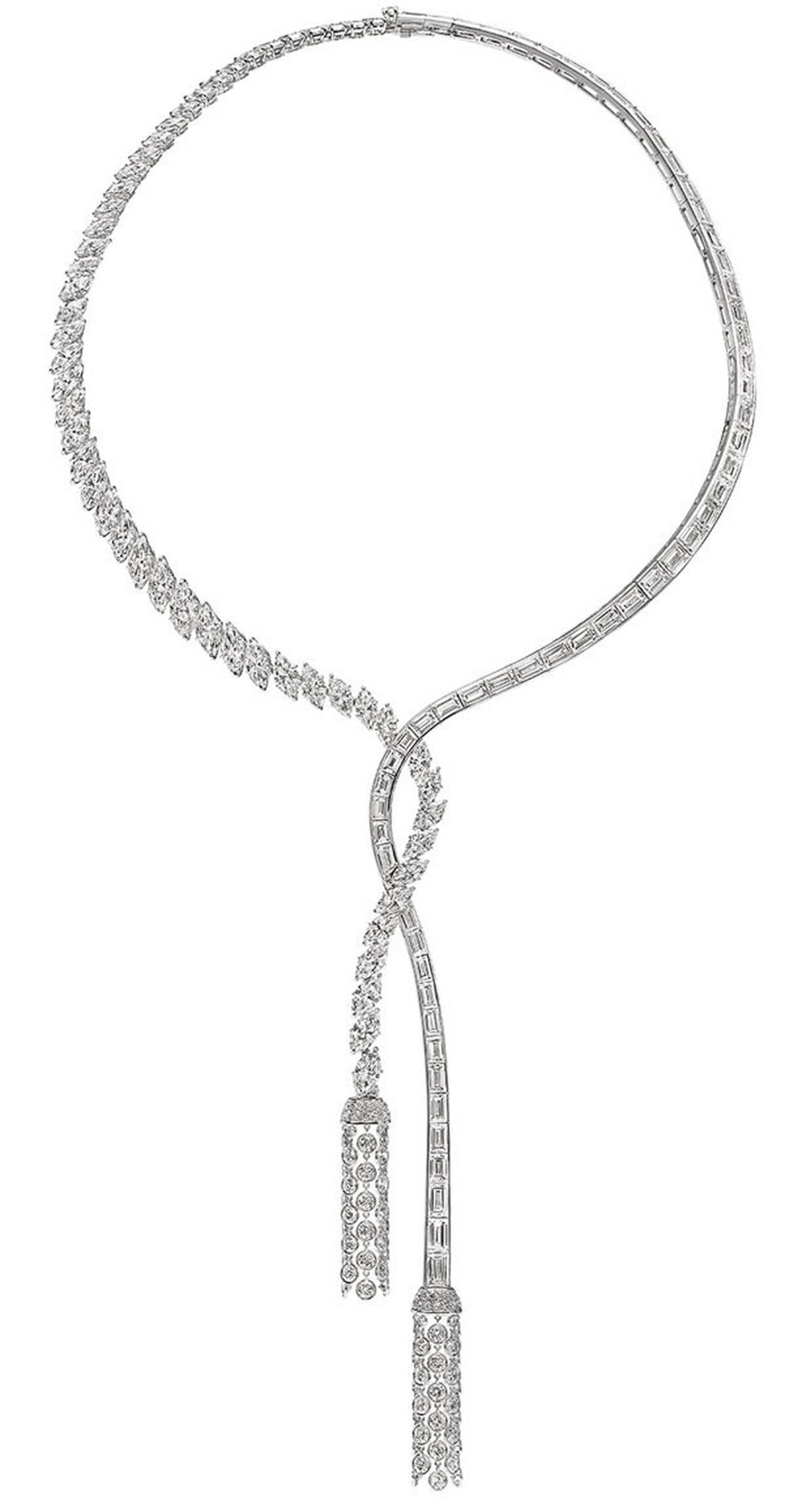 Harry Winston Caftan Diamond Tassel Necklace