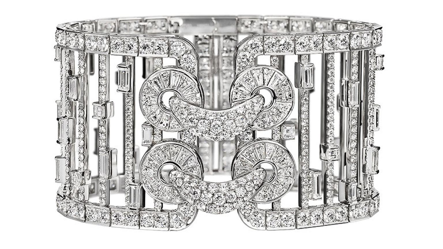 Harry Winston Qipao Diamond Cuff Bracelet