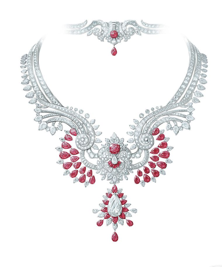 Van Cleef & Arpels Pierres de Caractère Oriental Princess ruby and diamond necklace