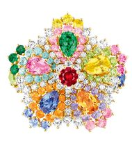 The new Cher Dior collection of high jewels makes its explosive debut at Paris Couture Week