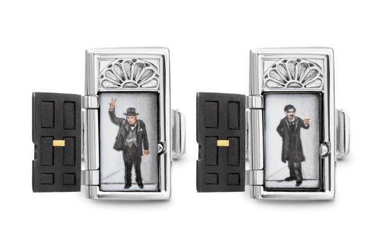Original cufflinks by Theo Fennell can be personalised with a scene of your choice