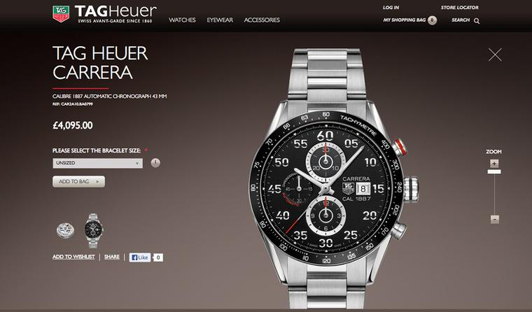 TAG Heuer launches into e-commerce in the UK