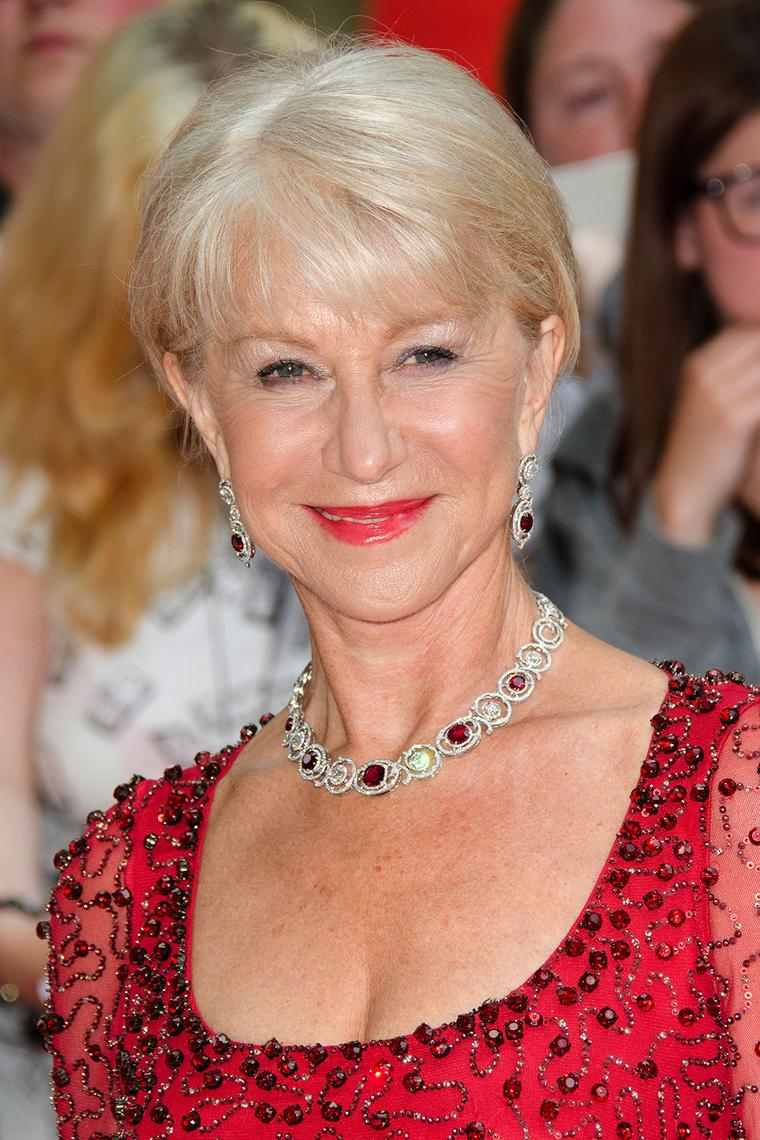 Lady in red Dame Helen Mirren is radiant in Boodles