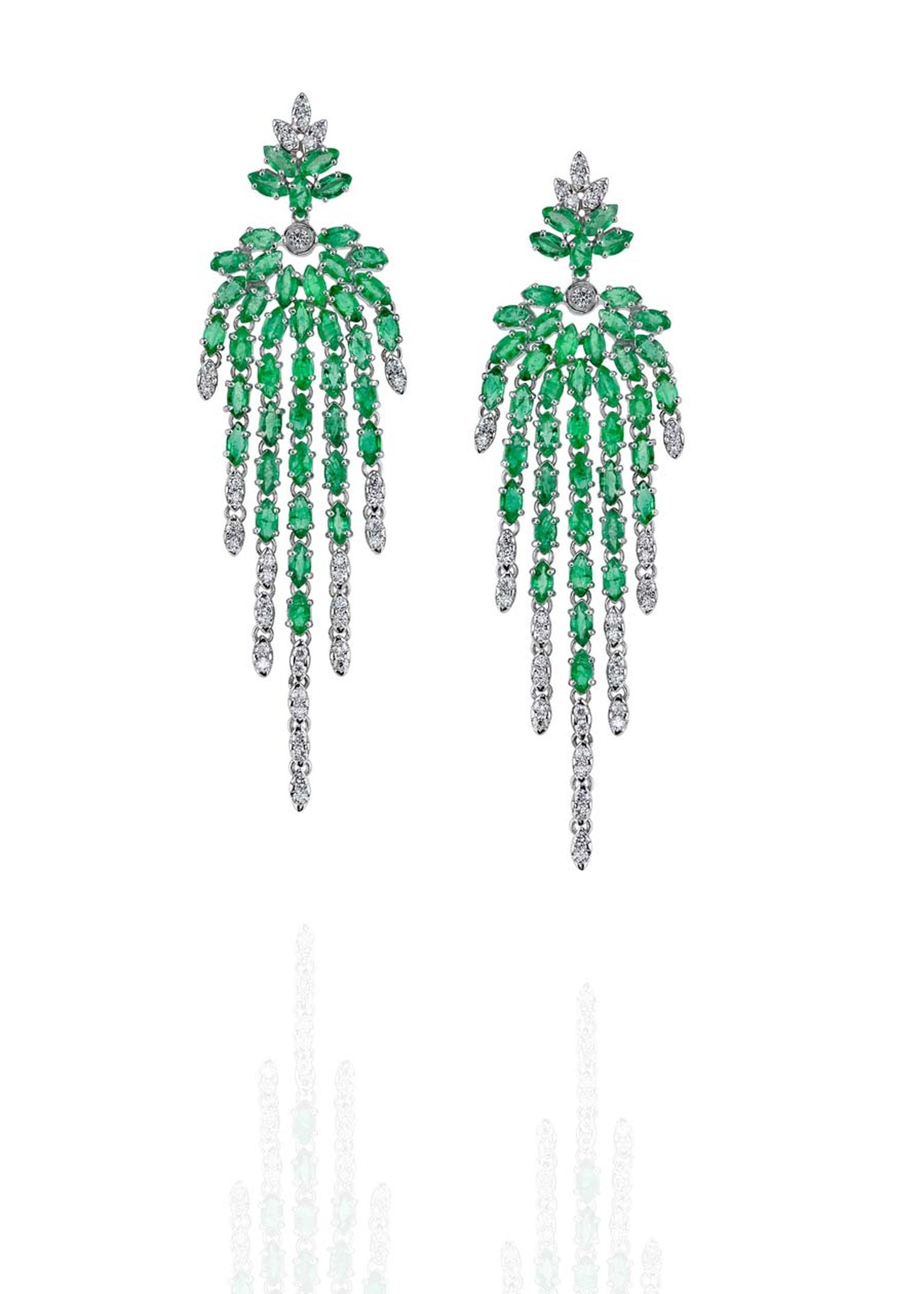 Carla Amorim Exstase earrings with emeralds and diamonds.