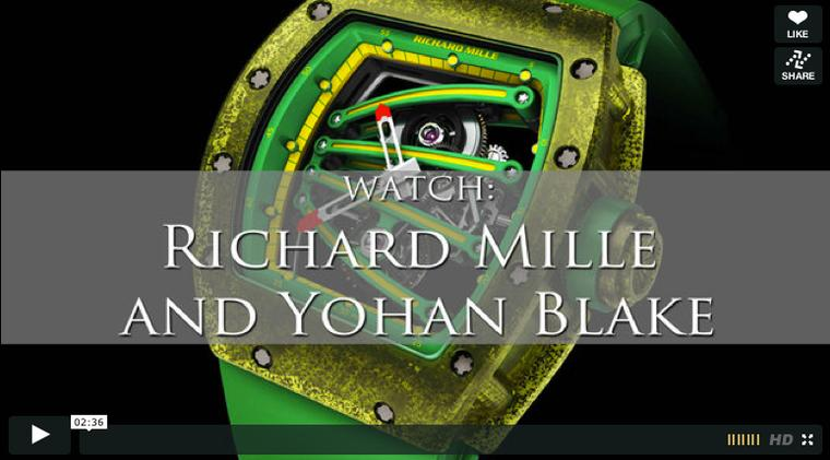 We talk to Yohan Blake about his new collaboration with watch maker Richard Mille in our latest video