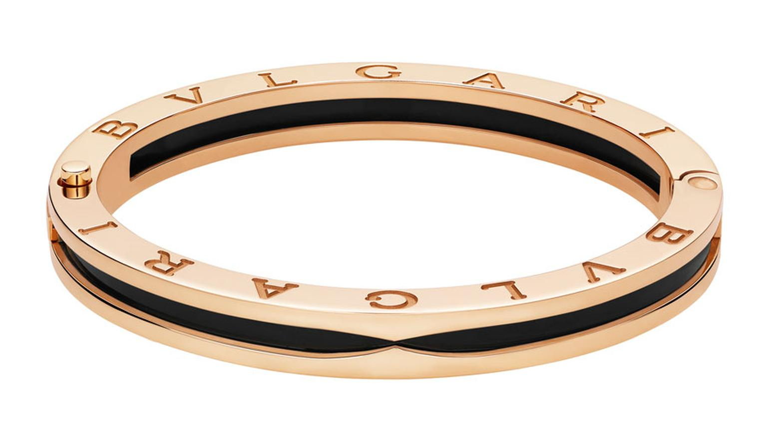 Bulgari B.zero1 pink gold and black ceramic bangle bracelet _ 4.150 GBP.jpg