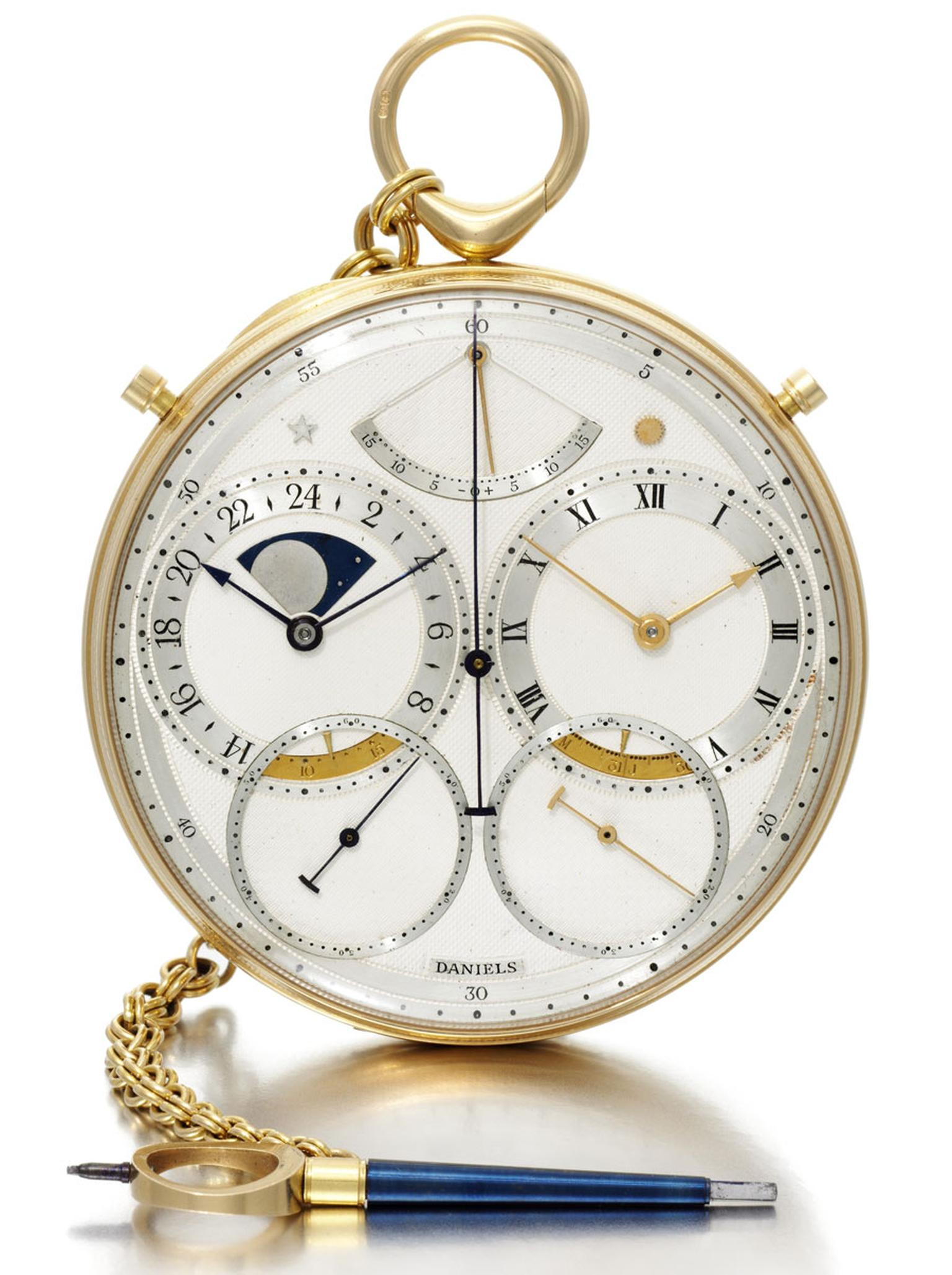 George Daniels 18K YELLOW GOLD CHRONOGRAPH WITH DANIELS INDEPENDENT DOUBLE-WHEEL ESCAPEMENT