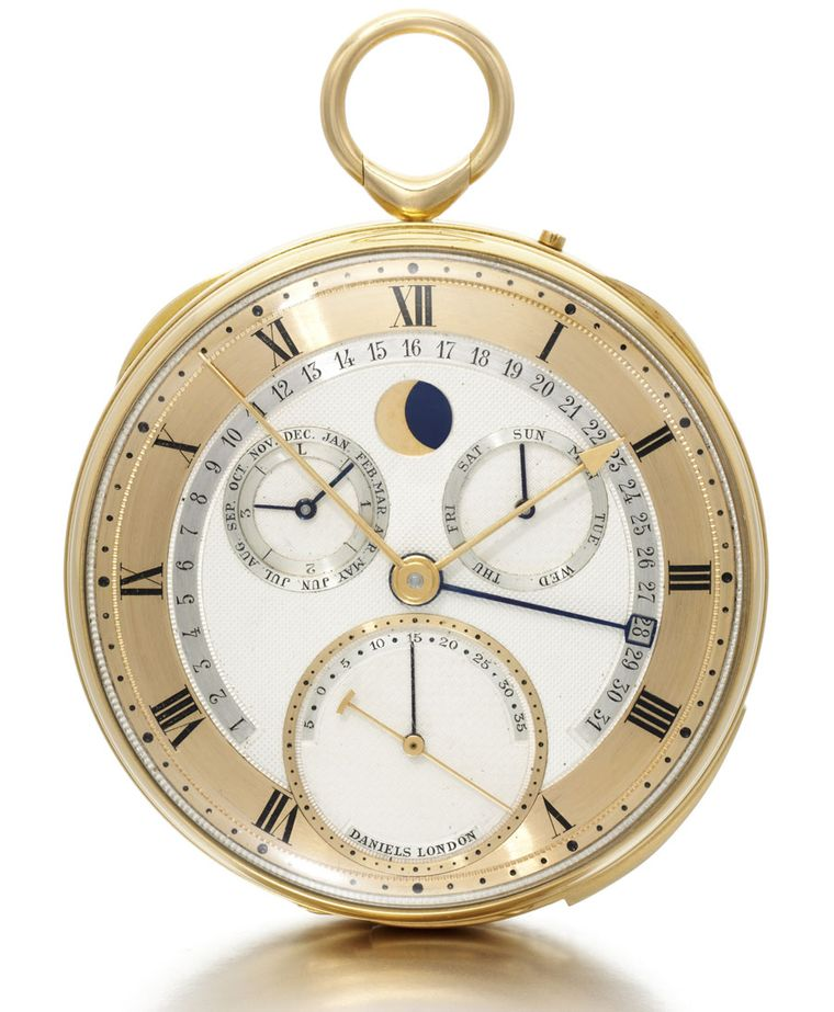 George Daniels 18K YELLOW GOLD ONE-MINUTE TOURBILLON WITH DANIELS SLIM CO-AXIAL ESCAPEMENT