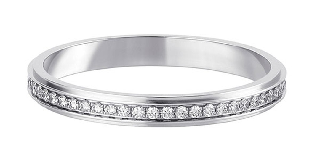 Cartier d'Amour wedding ring  - Platinum paved with brilliant-cut diamonds