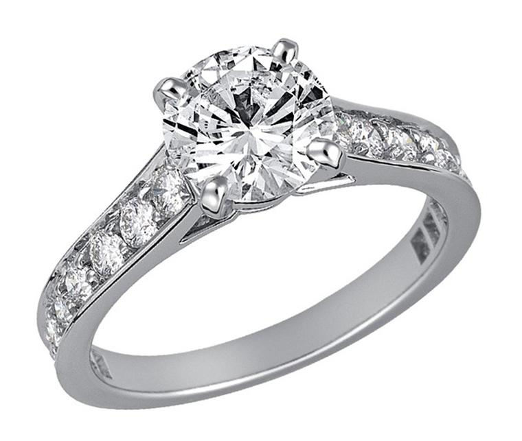 cartier paved solitaire 1895 platinum paved with brilliant cut diamonds central brilliant - Cartier Wedding Rings
