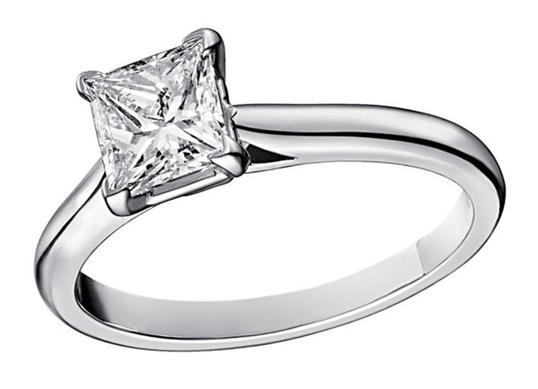 Cartier Solitaire 1895  - Platinum, central princess-cut diamond