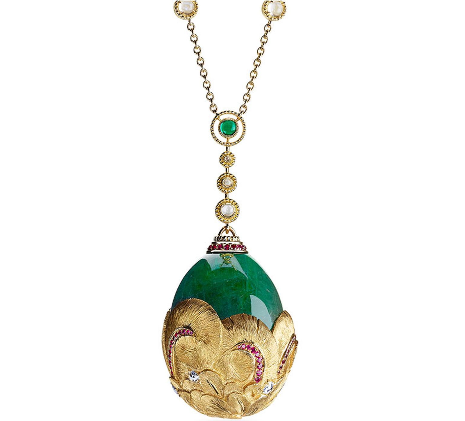 Faberge Collier Plume d'Or