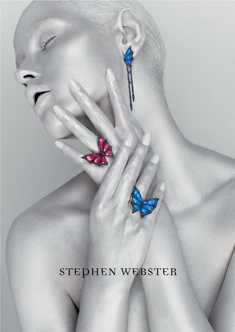 British jeweller Stephen Webster collaborates with Rankin on a typically edgy new ad campaign