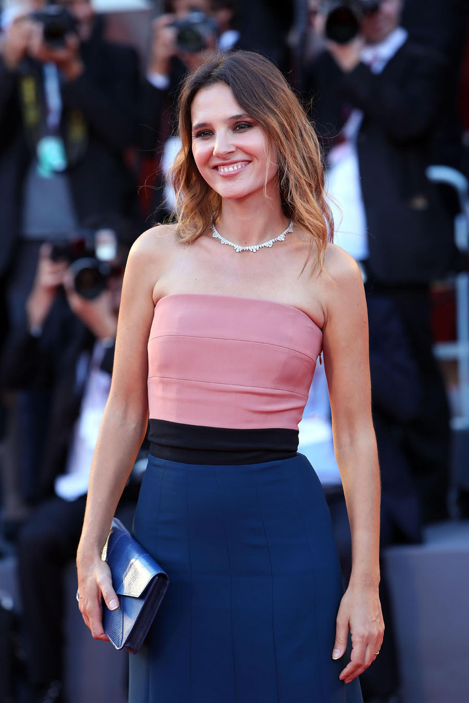 Actress Virginie Ledoyen became the second star to step out at an awards ceremony in Green Carpet Collection jewels by Chopard at the Venice Film Festival 2013