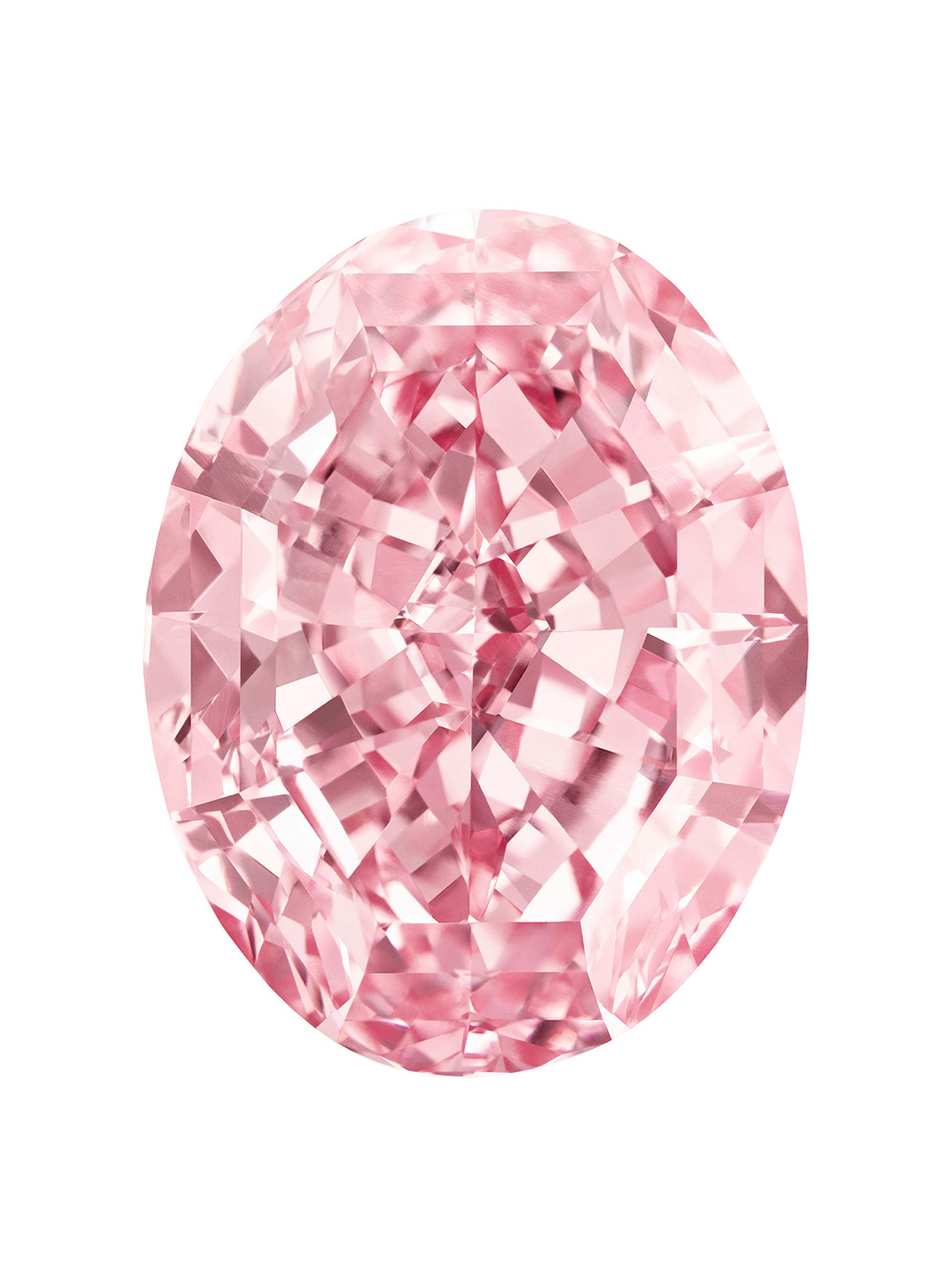 Called The Pink Star, this 59.60ct oval-cut pink diamond is the largest internally flawless Fancy Vivid pink diamond in the world. It was sold by Sotheby's for $83.19 million in November 2013 but the auction house was forced to reacquire it because the bu