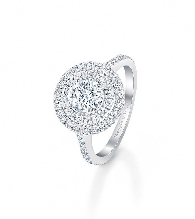 The engagement rings in the new bridal collection from Mappin & Webb are named after classic English roses