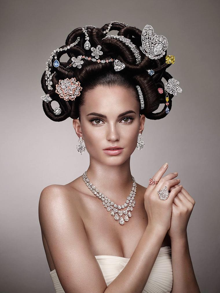 Graff Diamonds recreates an iconic image from the 1970s with half a billion dollars of jewels