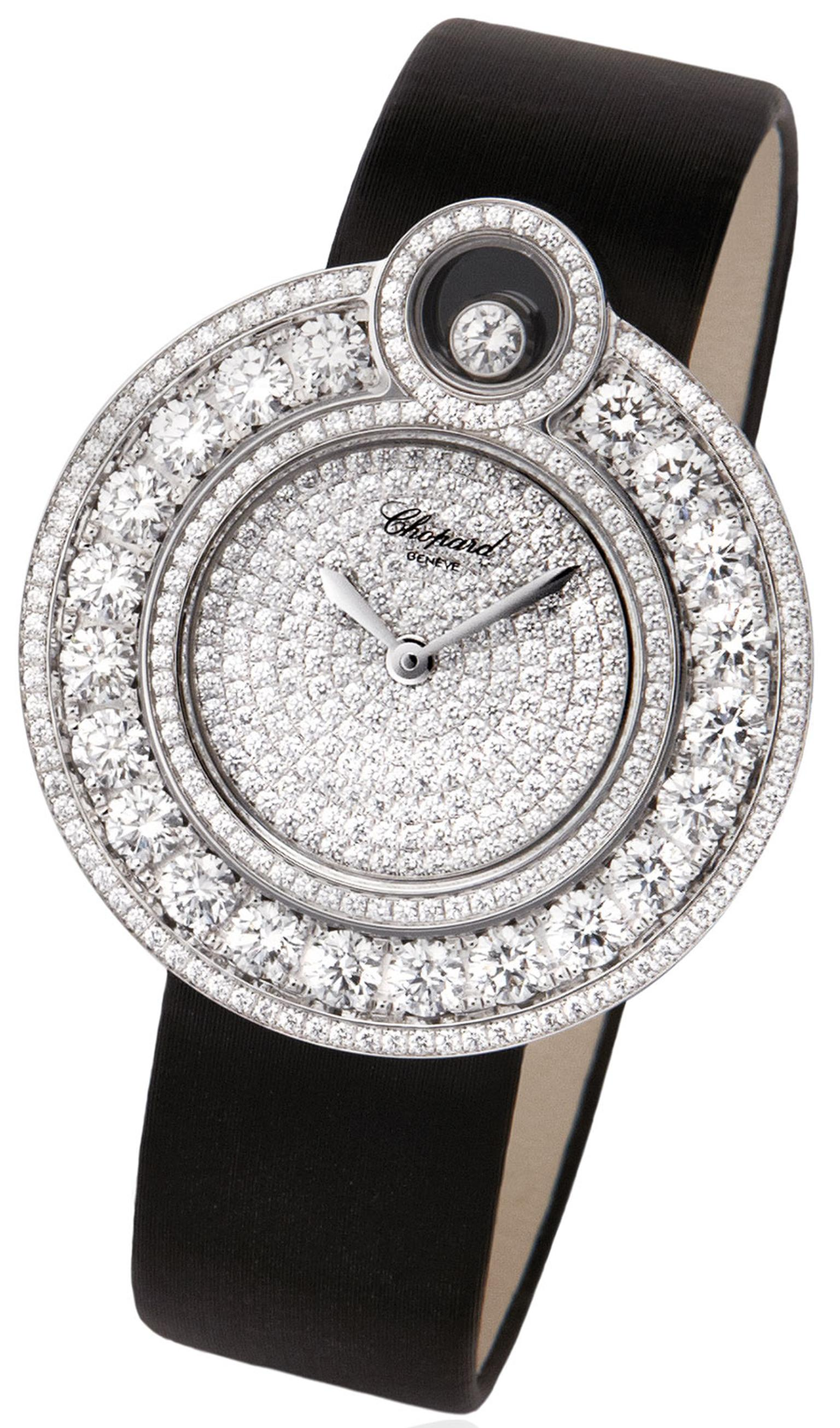 Chopard Happy 8 Watch with black strap