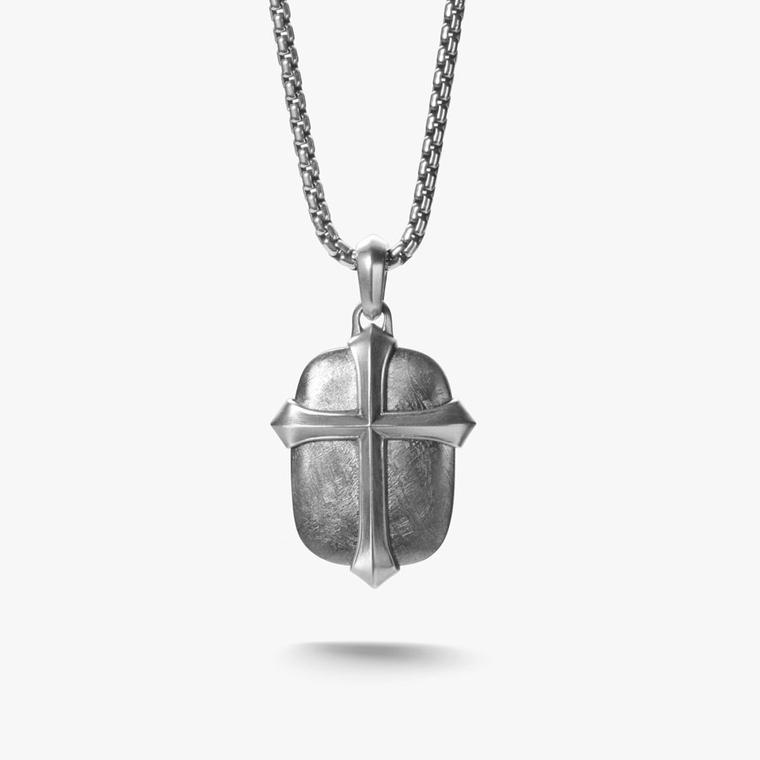 The new meteorite collection for men by david yurman is out of davidyurmanmeteorite5 david yurman meteorite cross tag with sterling silver from mozeypictures Images