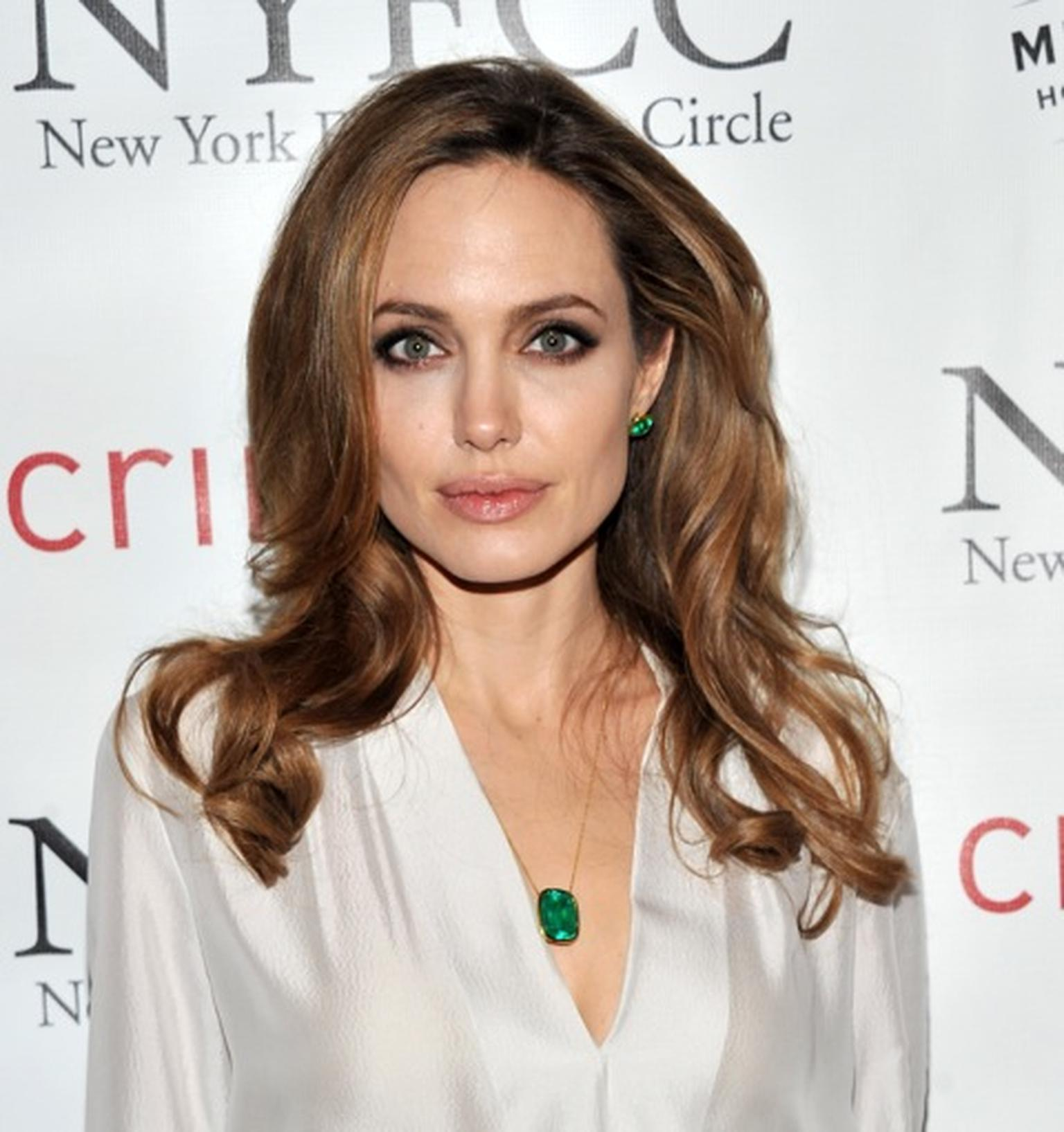 Angelina Jolie wearing Gemfield