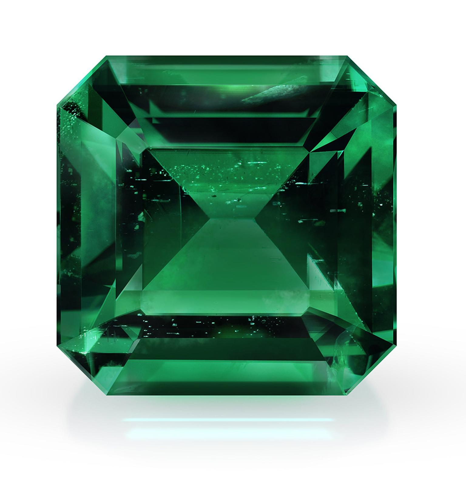 Gemfields square cut emerald