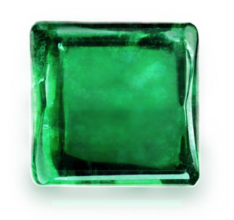 Gemfields emerald cut in square rounded shape