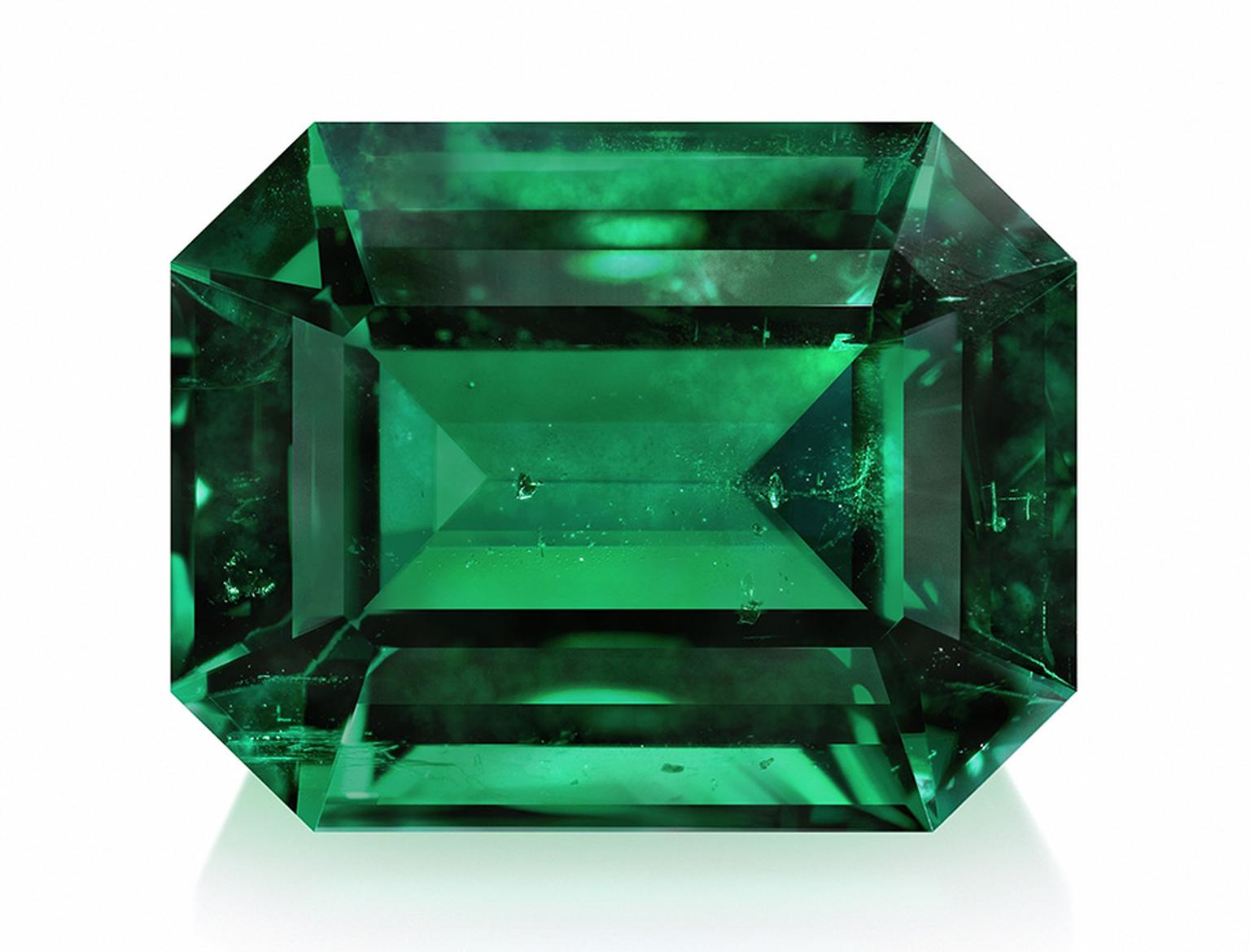 Gemfields emerald cut in rectangular shape