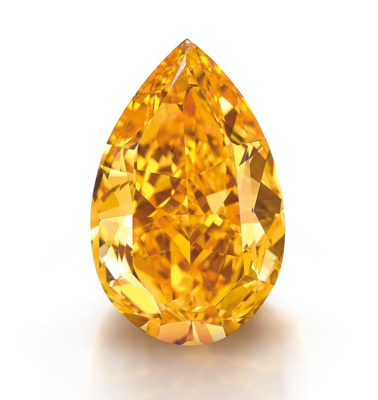The accolade for the highest price paid per carat for a coloured diamond is held by the 14.82ct 'The Orange' diamond, which fetched $35.54 million at Christie's Geneva in November last year
