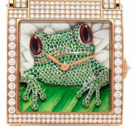 Swiss watchmaker DeLaneau specialises in watches for women featuring miniature masterpieces on hand painted dials