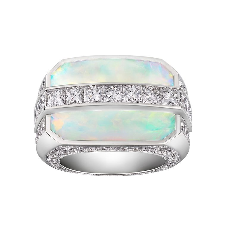 An opal and diamond ring from Louis Vuitton's Chain Attraction collection