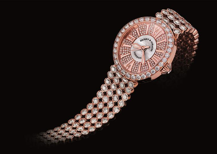 A Backes & Strauss is conceived as a jewellery watch as opposed to a watch merely embellished with diamonds