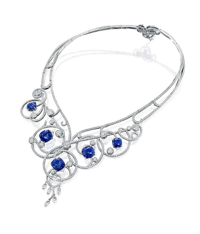 Boodles unveils a very British suite of sapphire and diamond Sweet Pea jewels