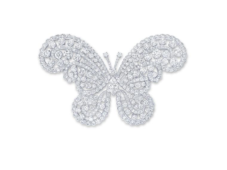 Graff Diamonds butterfly brooch, transformable into a hairclip, featuring 36.79ct diamonds (£POA).
