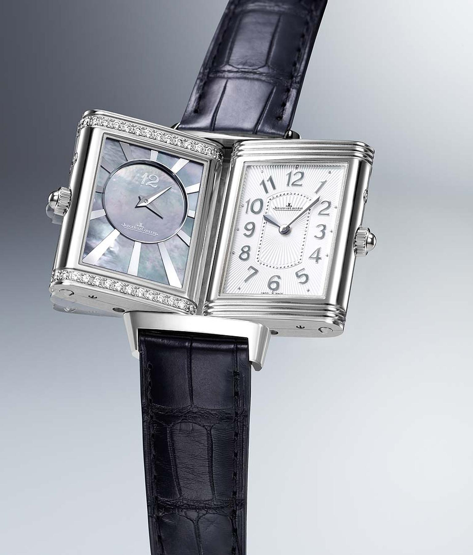 Jaeger-LeCoultre Grande Reverso Lady Ultra Thin Duetto Duo in stainless steel.