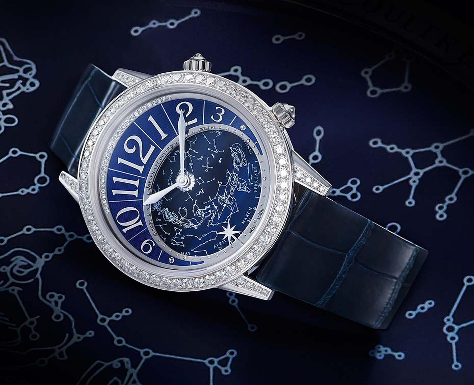 Jaeger-LeCoultre Rendez-Vous Celestial in white gold and diamonds.