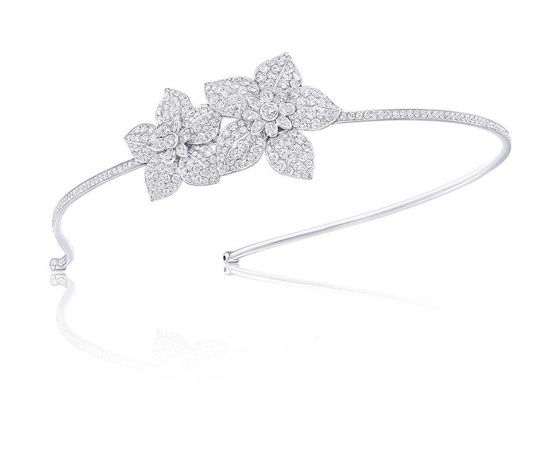 Graff Diamonds flower motif Alice band featuring 16.47ct diamonds
