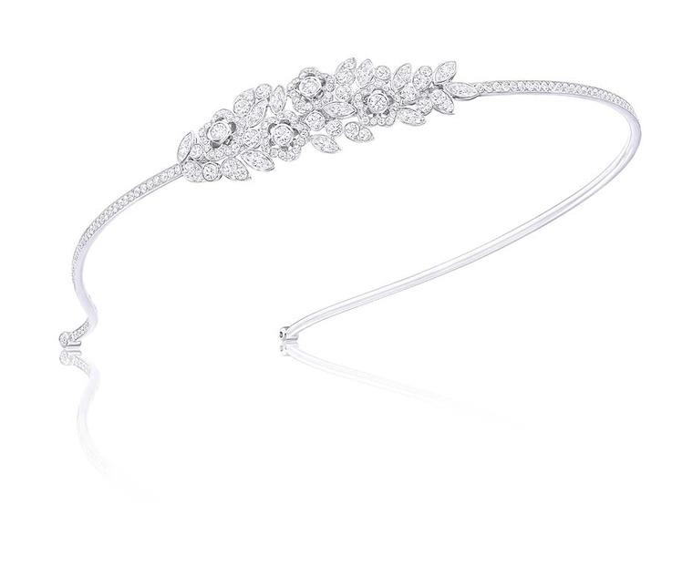 Graff Diamonds flower and leaf motif Alice band, set with 12.54ct diamonds