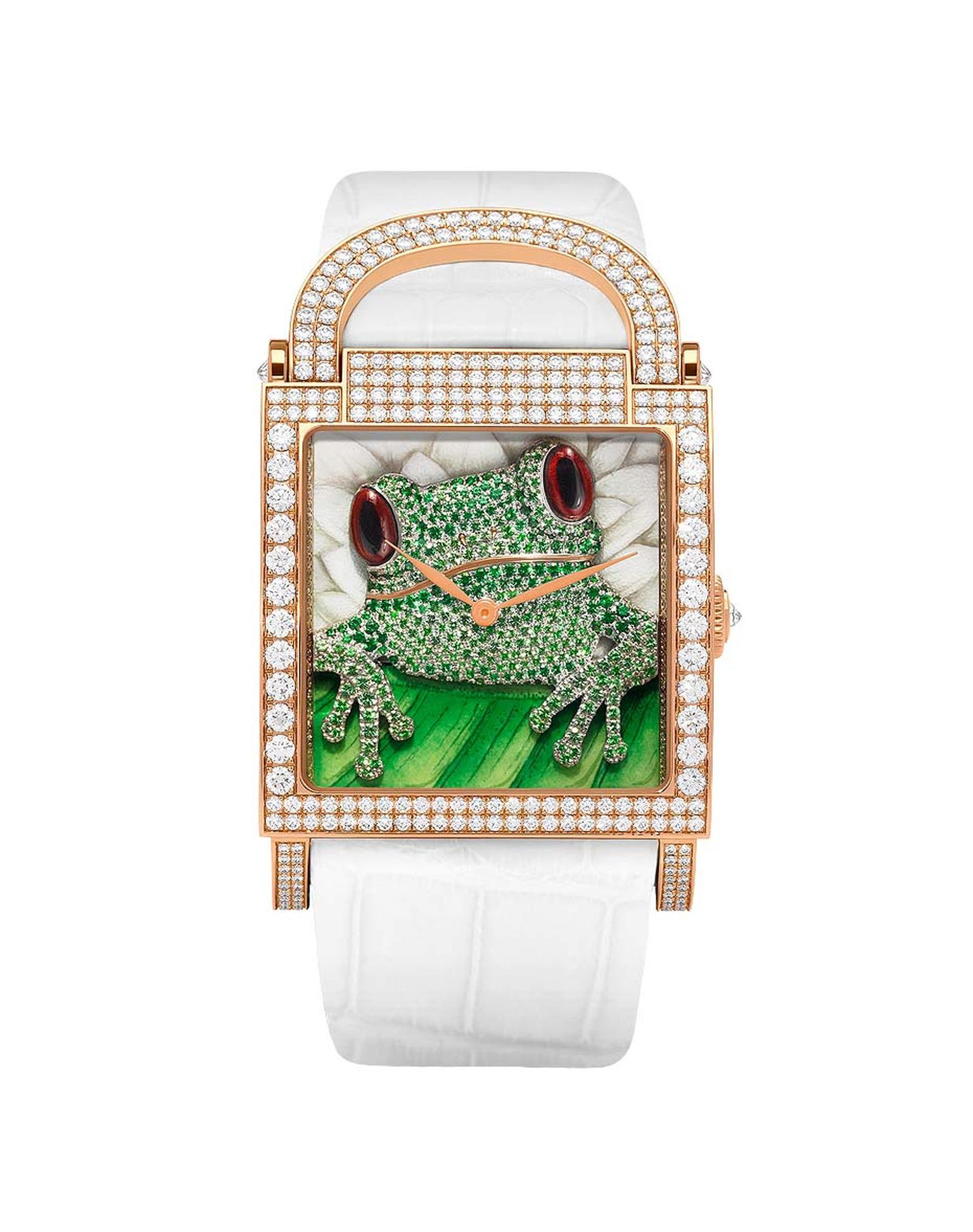 DeLaneau's one-of-a-kind Dôme Frog watch.